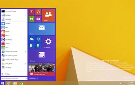 Windows 9 suena para otoño con el menú de inicio como gran protagonista