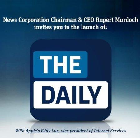 News Corp y Apple presentarán conjuntamente el nuevo The Daily en un evento el 2 de febrero