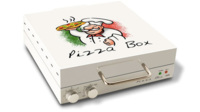 Esta caja para pizza ¡es un horno!