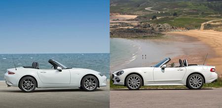Comparativa Mazda MX-5 vs Fiat 124 Spider: ¿cuál es mejor para comprar?