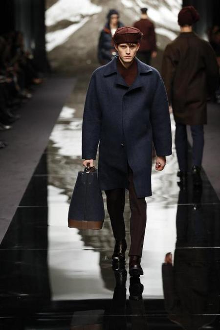 Abrigo Azul Louis Vuitton AW 2014
