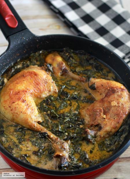 Pollo Cremoso Con Espinacas