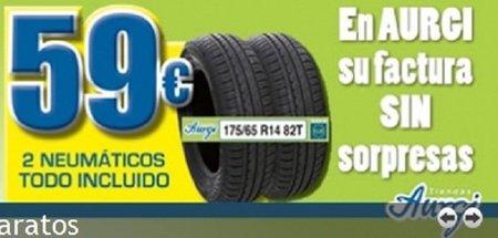 Dos neumáticos en Aurgi por 59 euros