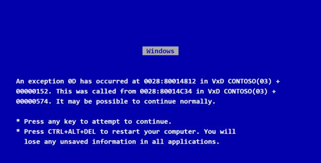 Pantallazo Azul De La Muerte Con Datos Sobre El Error