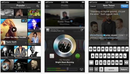 Pantallazos de Twitter #music en iOS