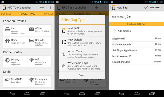 NFC Task Launcher para Android