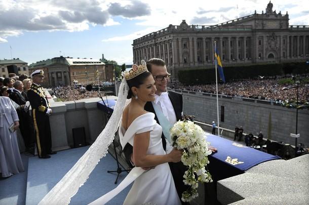 foto de boda de la princesa victoria de suecia: el vestido de novia