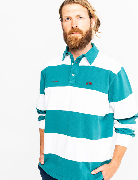 Polo Rugby Stripes Verde