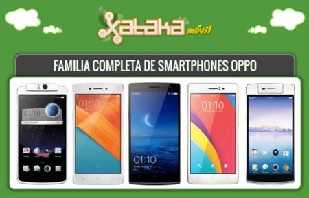 Así queda el catálogo completo de smartphones Oppo tras la llegada del Oppo R7 y el R7 Plus