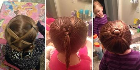 Dad Does Daughter Ponytail Cosmetology School Greg Wickherst 11