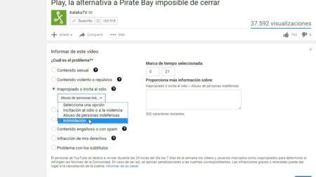 Denuncia Youtube