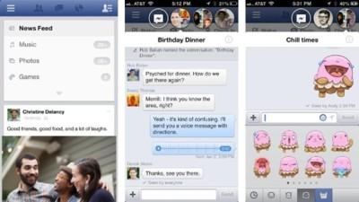 Parte de Facebook Home llega a iOS: las chatheads y los stickers
