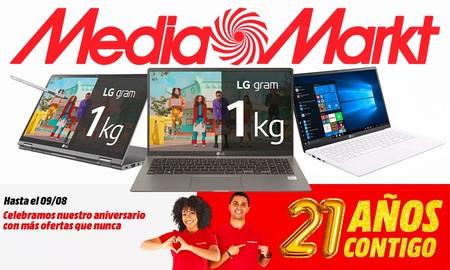 Los portátiles más ligeros son estos LG Gram que puedes encontrar con un 20% de descuento en el Aniversario de MediaMarkt