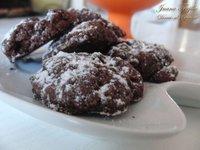 Galletas de chocolate y melaza. Receta de postre
