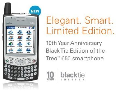 Palm Treo 650 negra por el 10 aniversario de Palm