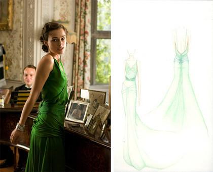 El vestido de Keira Knightley en Atonement a subasta