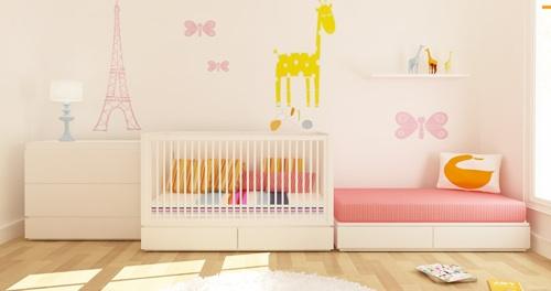 Habitaciones modulares para beb de ducduc - Como pintar habitacion bebe ...