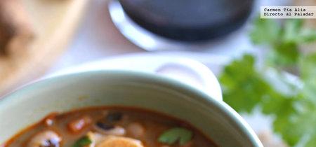 Alubias carilla con pulpo picante. Receta para combatir el frío