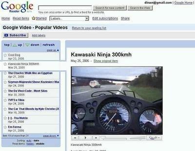 Google Reader permite ver vídeos