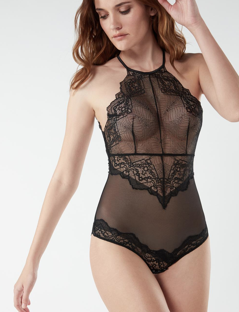 Body de Encaje y Tul Lady Sheer
