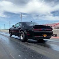 ¡Descomunal! El Dodge Challenger Demon con motor Hellephant de 1.014 CV ya es 0,5 segundos más rápido en el cuarto de milla