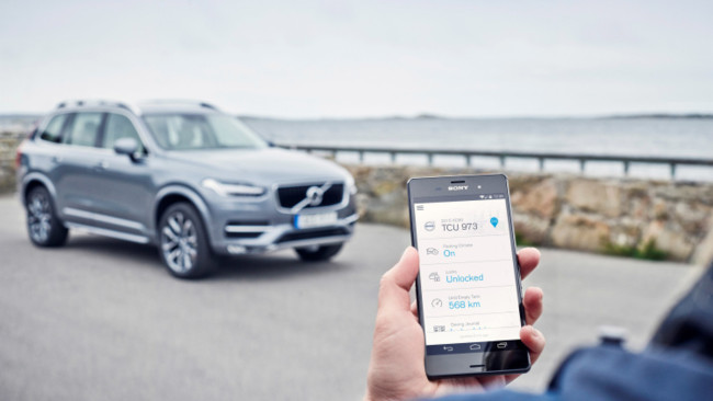 163101 Volvo On Call App In An Android Phone 1