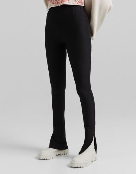 Pantalon Legging Otoman Abertura Bajo