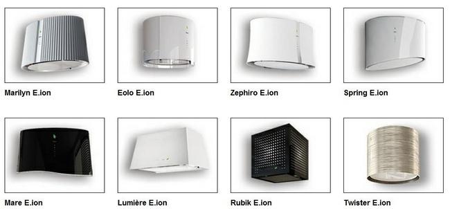 Falmec modelos de E.ion