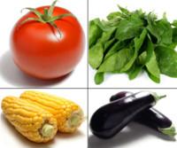 Dieta equilibrada con alimentos de colores