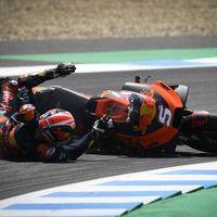 Johann Zarco fue el piloto de MotoGP que más se cayó en 2019 y Andrea Dovizioso el más seguro