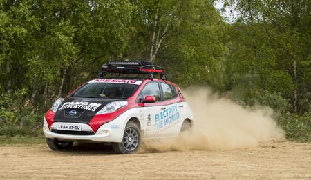 Así es el Nissan Leaf AT-EV, eléctrico y todoterreno, listo para el Mongol Rally