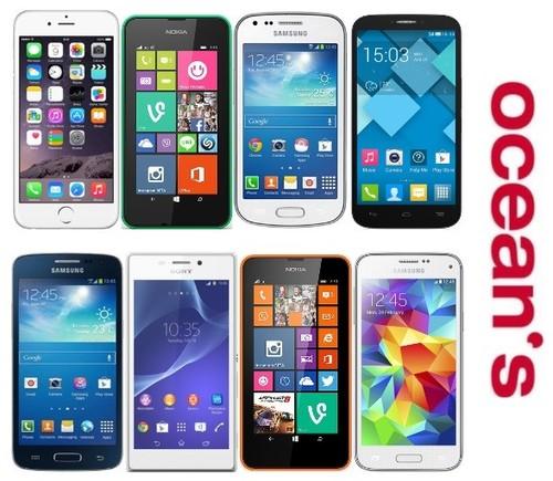 Oceans fortalece su catálogo de smartphones con 14 novedades, iPhone 6 entre ellas