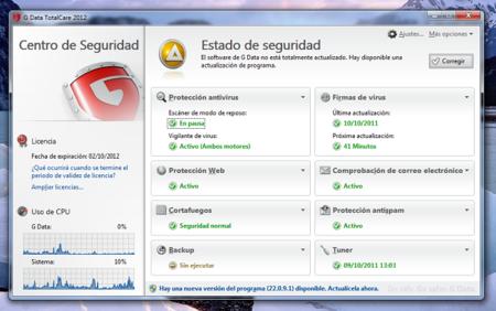 GData TotalCare 2012, interesante software de seguridad para Windows