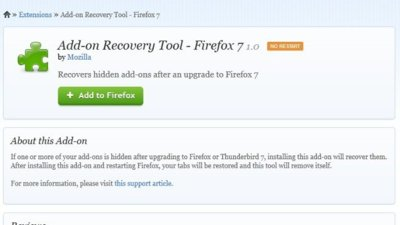 ¿No puedes ver tus extensiones en Firefox 7? Aquí está la solución