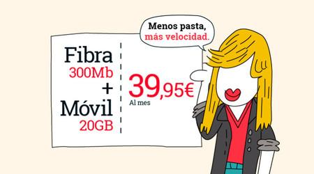 Lowi mejora su tarifa fibra y móvil de 39,95 euros con 20 GB de datos