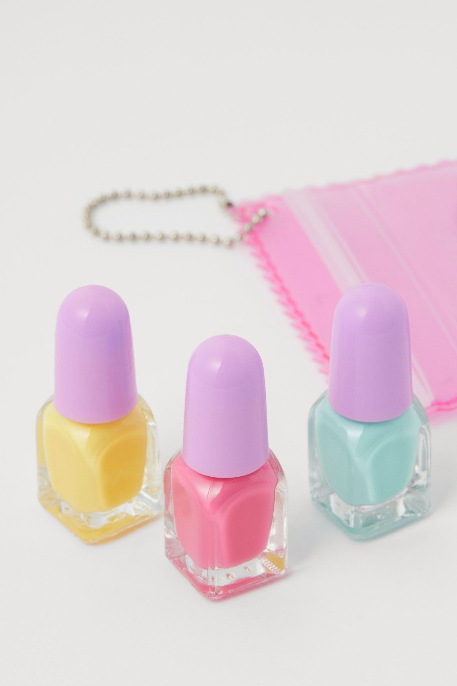 Pack de 3 miniesmaltes de uñas