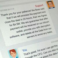Los 'hackers' han ganado, y lo han hecho en público: su surrealista negociación con la compañía CWT ha sido exhibida en un chat