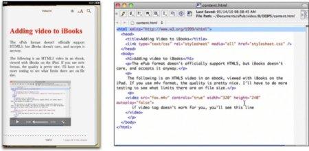 iBooks soporta HTML5 y por tanto vídeo en los libros