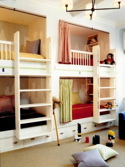 Habitaciones infantiles para tres o m s ni os - Dormitorio infantil original ...