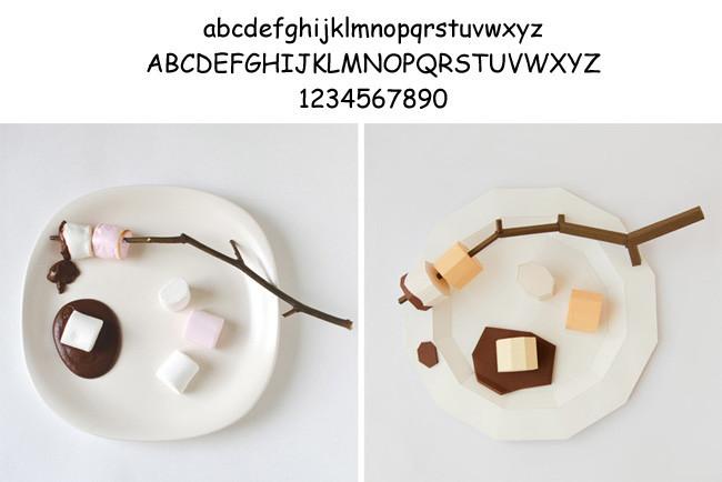 Comida tipografía 4