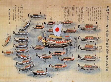 Flota de Kuki Yoshitaka en 1593.