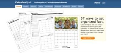 CalendarsQuick, plantillas para crear nuestros propios calendarios