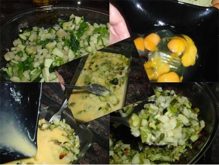 Preparación de la tortilla rústica al horno