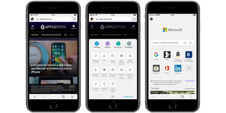 Nuevo Microsoft Edge Iphone