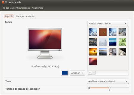 Ubuntu 12.10 apariencia