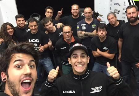 Luis Salom Equipo Sag Team Test Valencia 2015