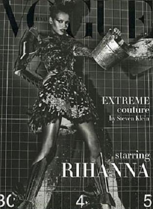 Rihanna, poderosa en la portada de Costura de Vogue Italia