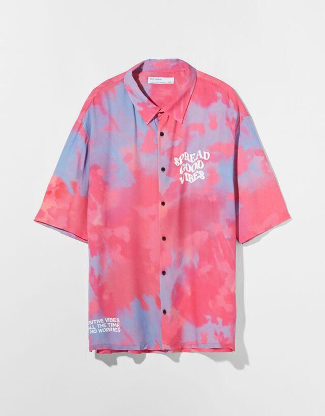 Camisa efecto tie-dye