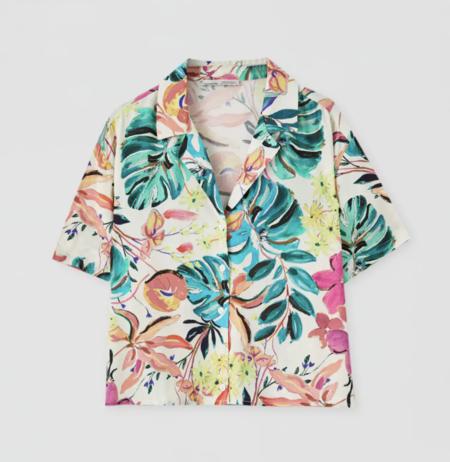 Camisa estampado flores multicolor