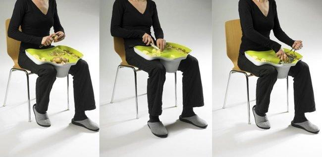 accesorio cocinar sentado